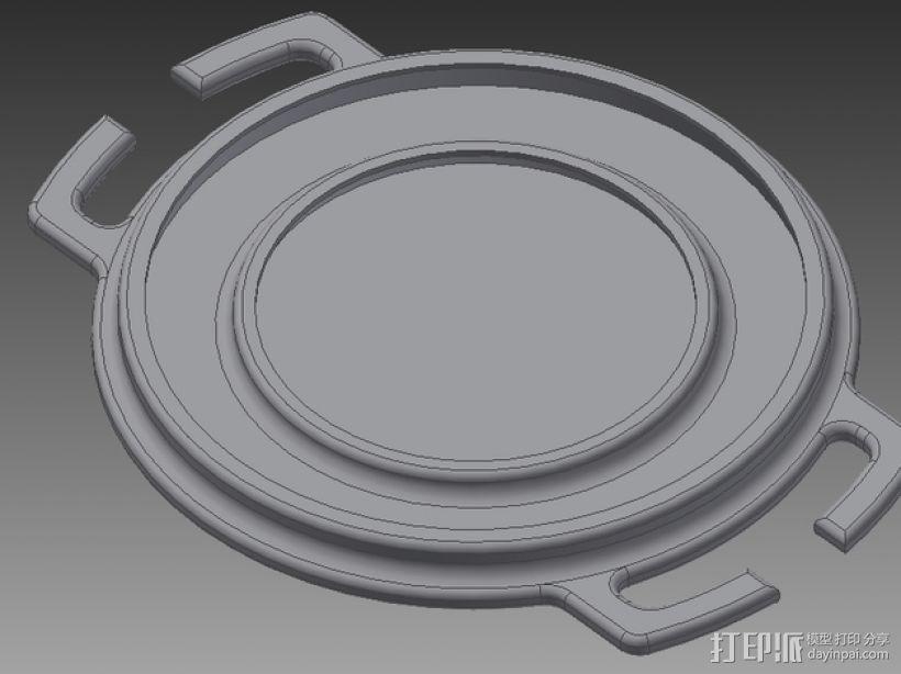 尼康镜头盖 3D模型  图1