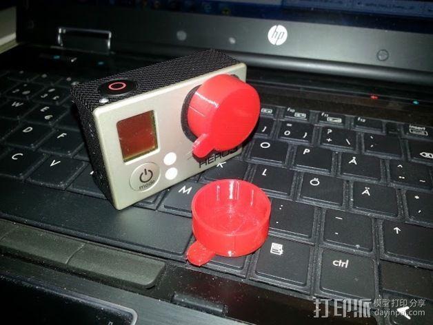 GoPro Hero 3 镜头盖 3D模型  图1
