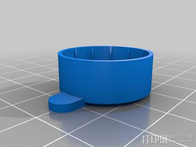 GoPro Hero 3 镜头盖 3D模型  图3