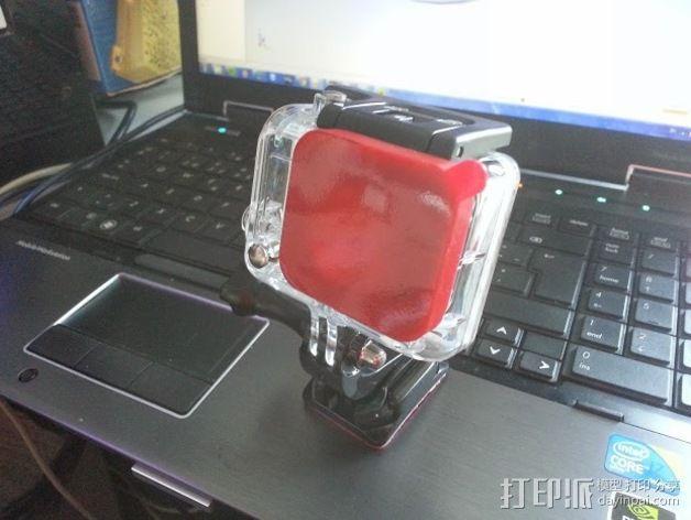 GoPro Hero 3镜头盖 3D模型  图2