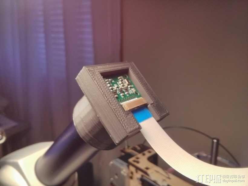 Raspberry Pi 相机显微镜适配器 3D模型  图1
