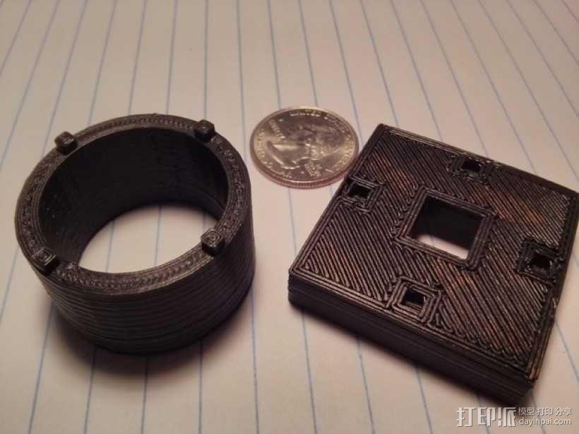 Raspberry Pi 相机显微镜适配器 3D模型  图4