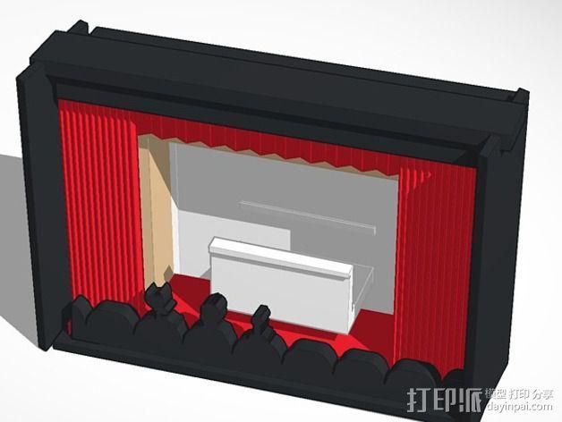 神秘剧场手机座 3D模型  图1