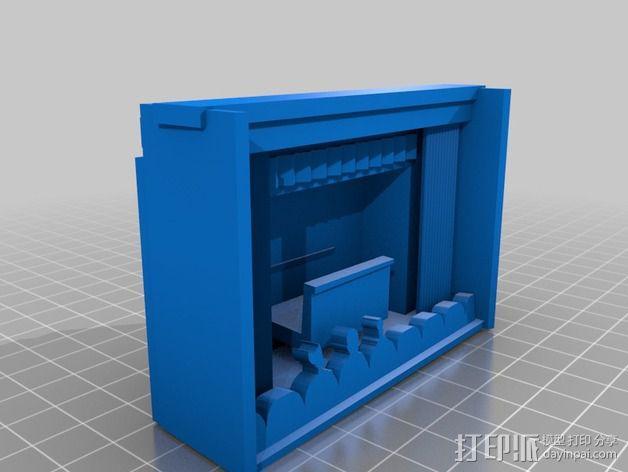 神秘剧场手机座 3D模型  图2