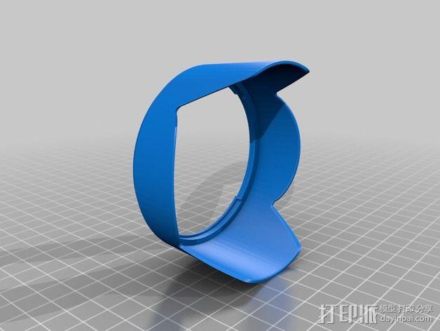 Tamron DA18镜头罩 3D模型  图2