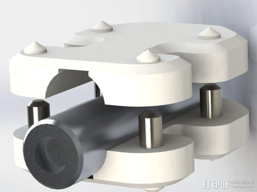 安装板 3D模型  图1