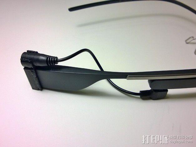 Google Glass适配器 3D模型  图1
