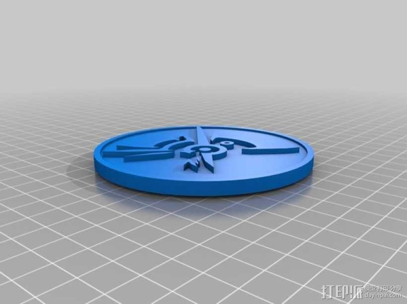 Dishonored硬币摆件 3D模型  图1