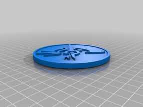 Dishonored硬币摆件 3D模型