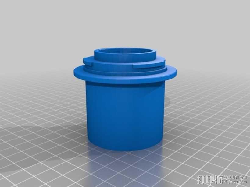 Canon EF适配器 3D模型  图1