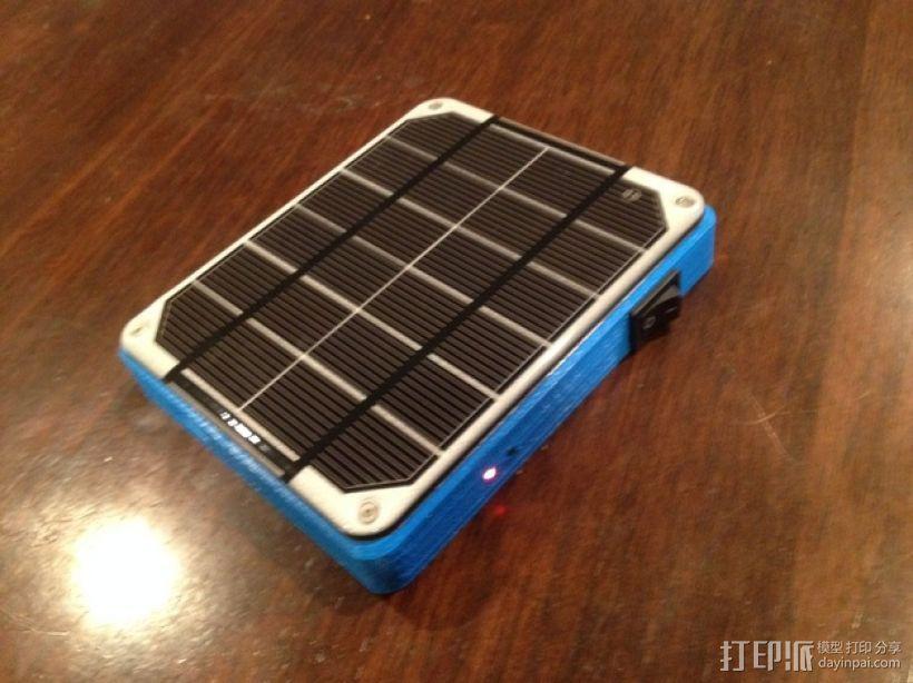 太阳能充电板 3D模型  图1