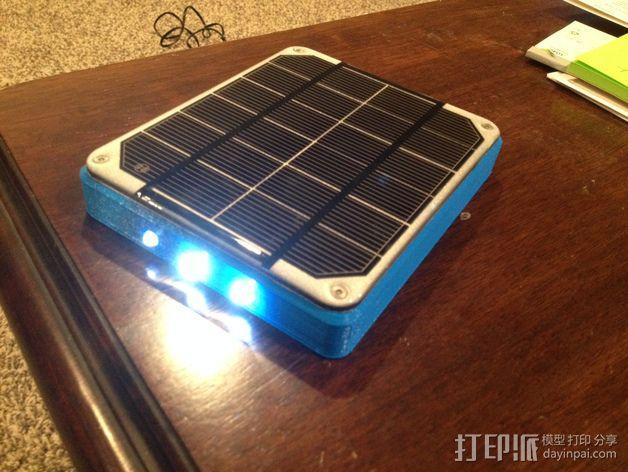 太阳能充电板 3D模型  图3