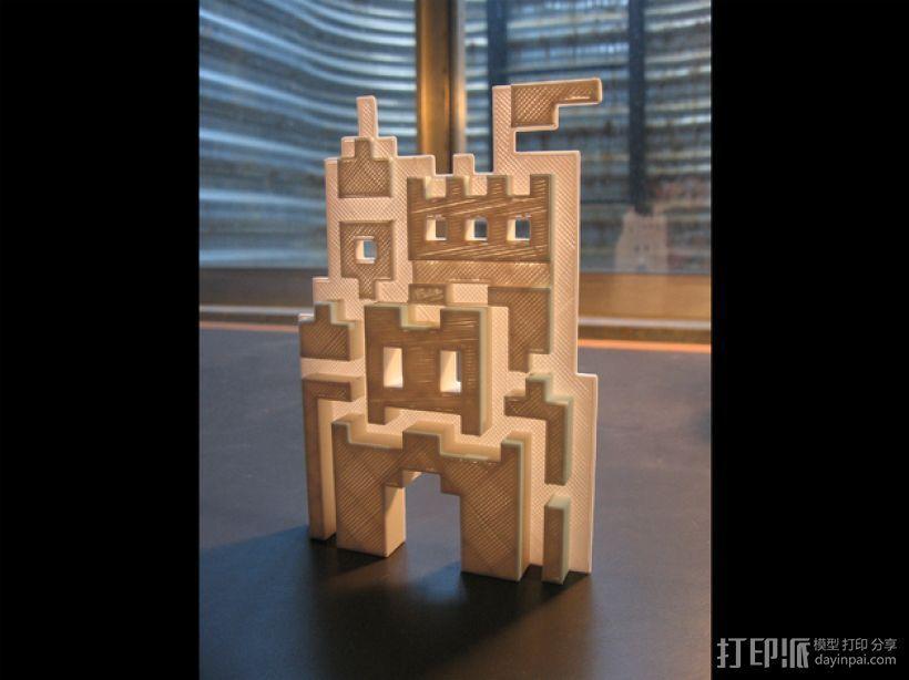 SMB3城堡摆件 3D模型  图1