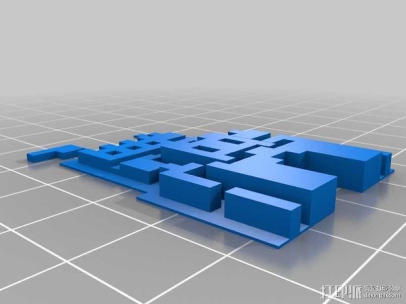SMB3城堡摆件 3D模型  图5