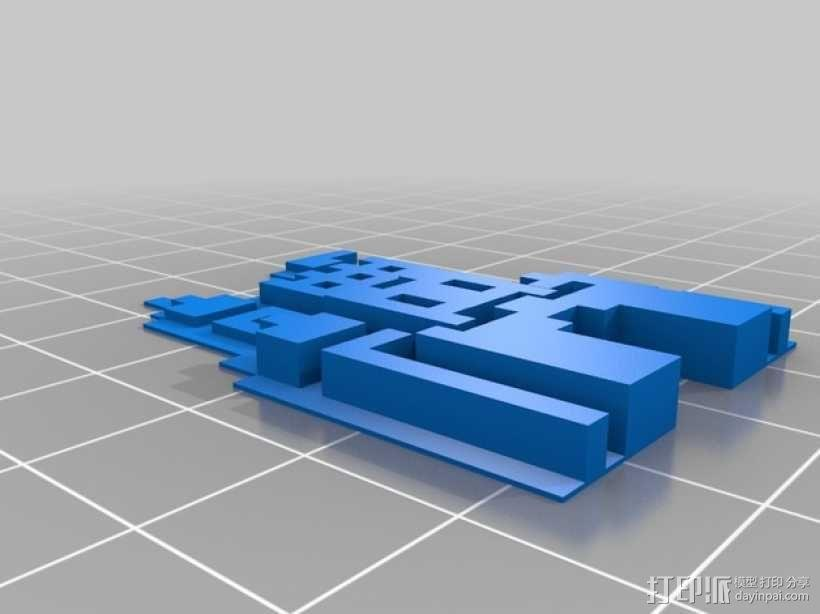 SMB3城堡摆件 3D模型  图4