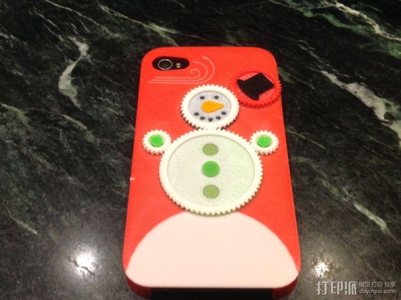 iPhone4S圣诞雪人手机壳 3D模型  图1