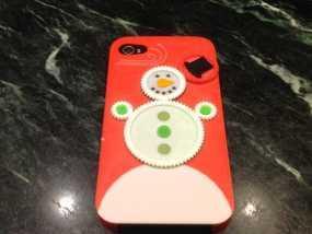 iPhone4S圣诞雪人手机壳 3D模型