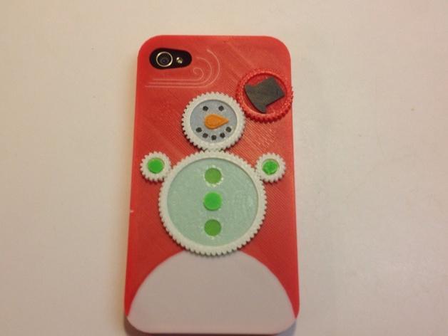iPhone4S圣诞雪人手机壳 3D模型  图4