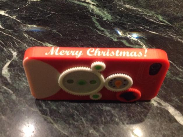iPhone4S圣诞雪人手机壳 3D模型  图2