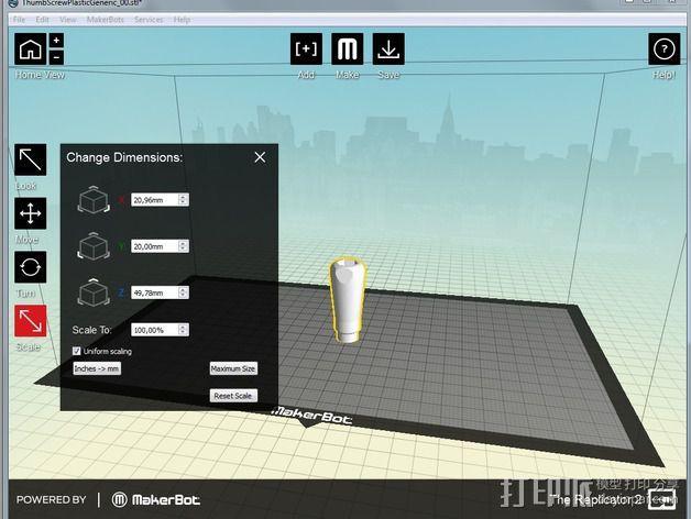 蝴蝶螺丝 3D模型  图6