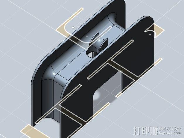 充电器保护壳 3D模型  图2