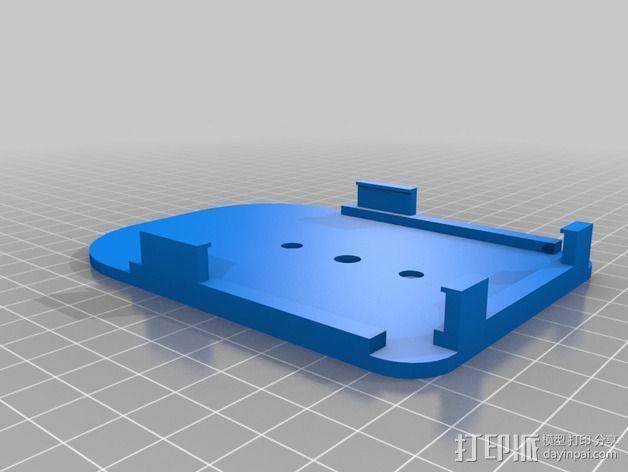 Samsung Note3车载支架 3D模型  图2