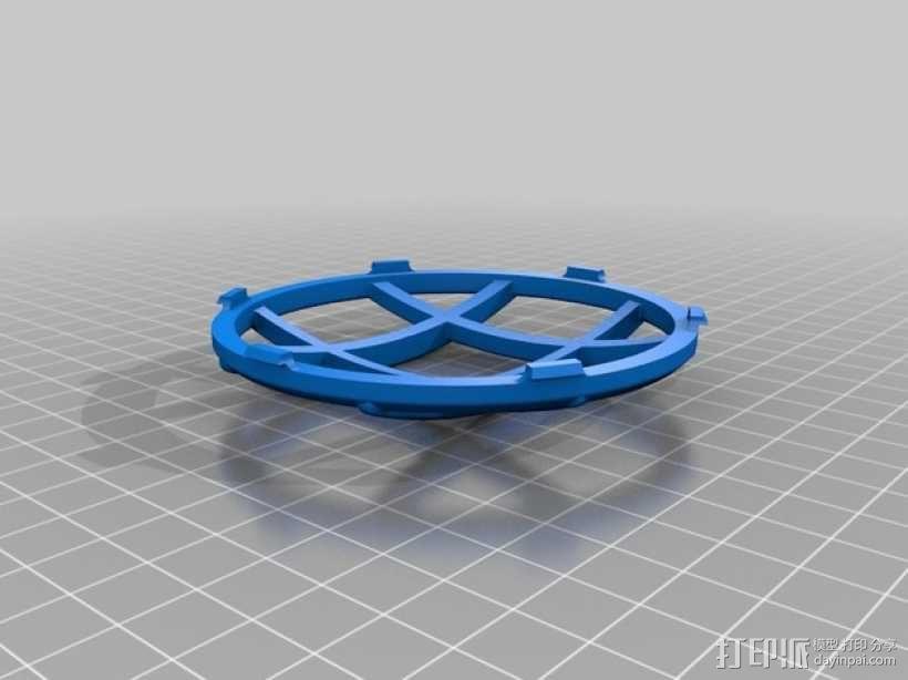 菱形闪光灯罩 3D模型  图1
