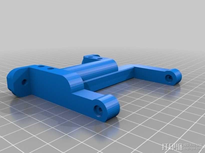 GoPro HERO3相机适配器 3D模型  图2