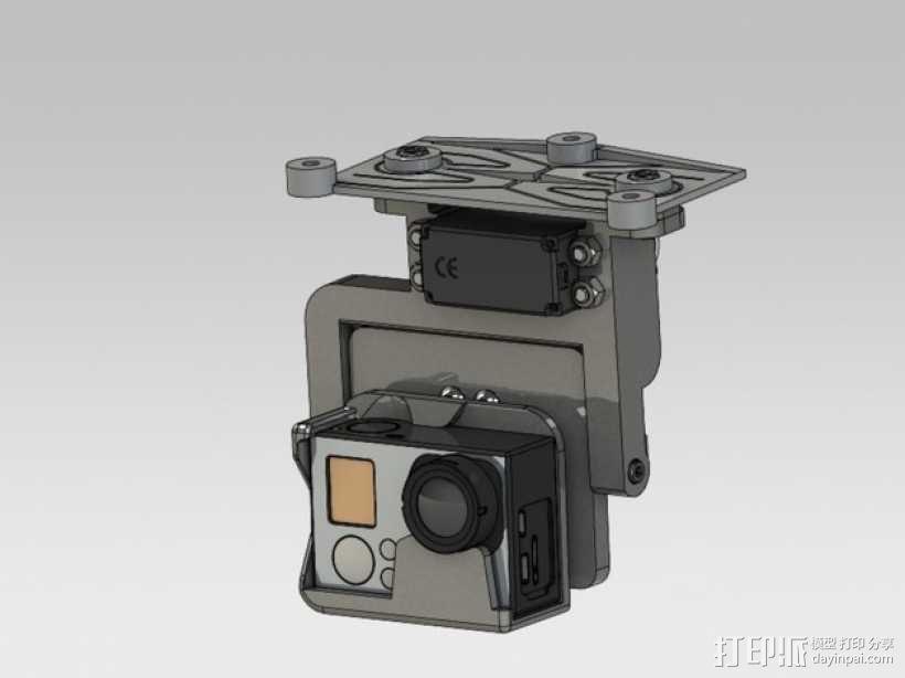 GoPro HERO3相机适配器 3D模型  图1