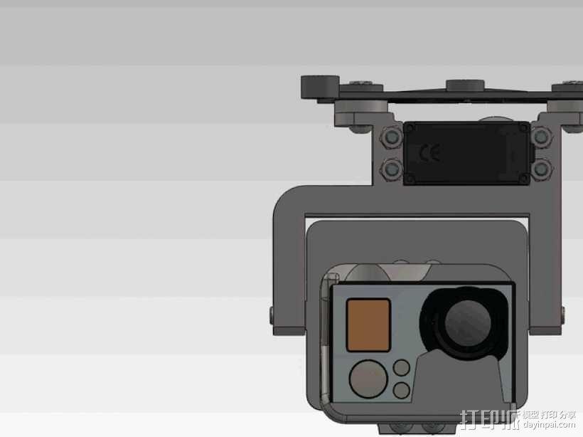 GoPro HERO3相机适配器 3D模型  图6