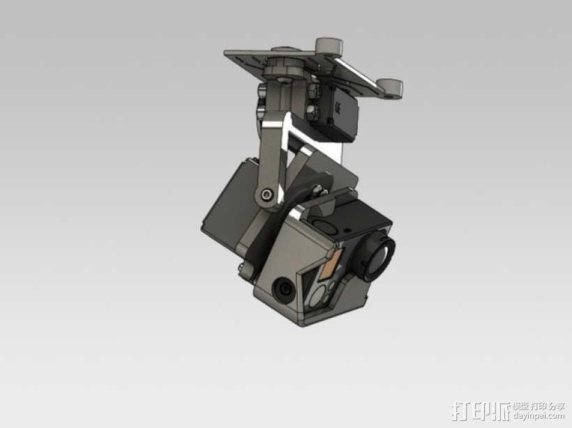 GoPro HERO3相机适配器 3D模型  图5