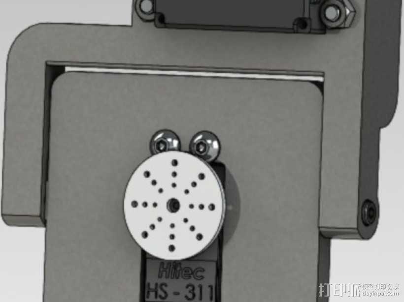 GoPro HERO3相机适配器 3D模型  图7