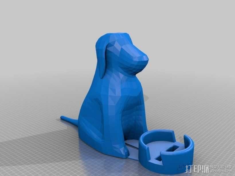 小狗手机座 3D模型  图1