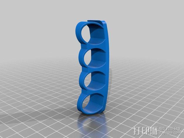 四指戒指 3D模型  图2