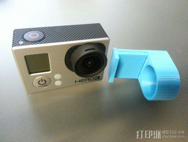 Gopro 3镜头盖 3D模型  图2