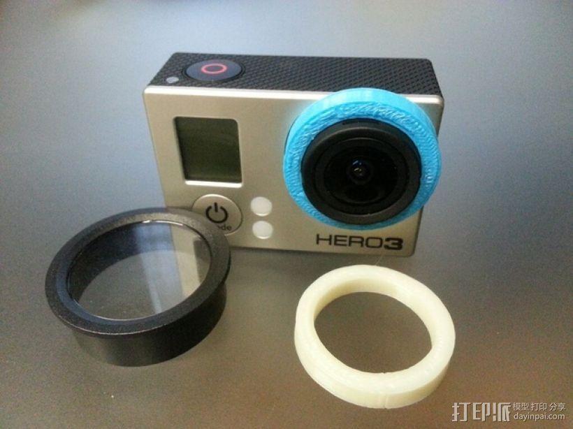 Gopro 3镜头盖 3D模型  图1