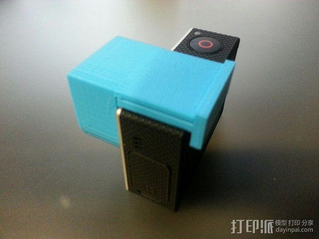 Gopro 3镜头盖 3D模型  图5