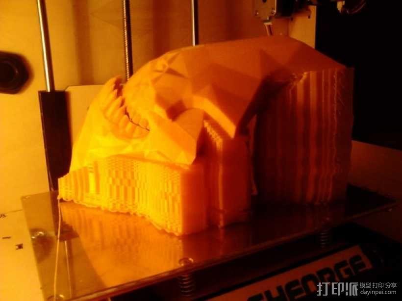 Sand King head摆件 3D模型  图2