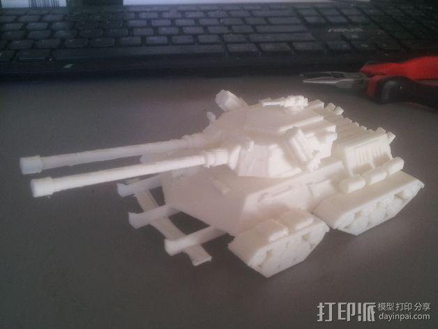 坦克摆件 3D模型  图3
