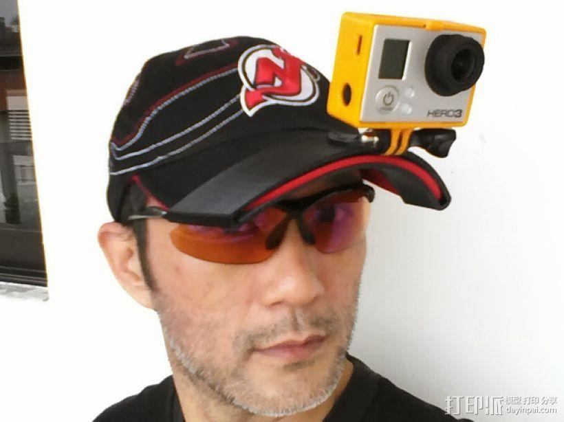 GoPro Hero 3 适配器 3D模型  图1