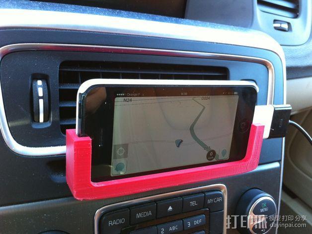 Iphone 5车载手机座 3D模型  图3