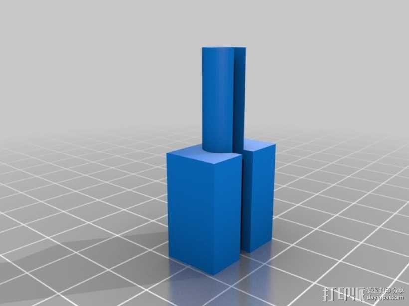 USB电缆保护器 3D模型  图1