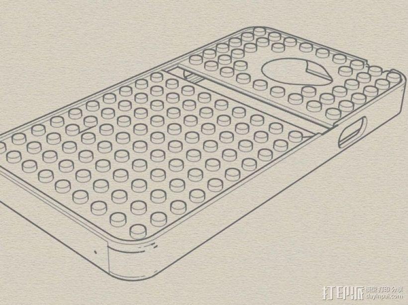 HTC EVO 乐高质地手机壳 3D模型  图1