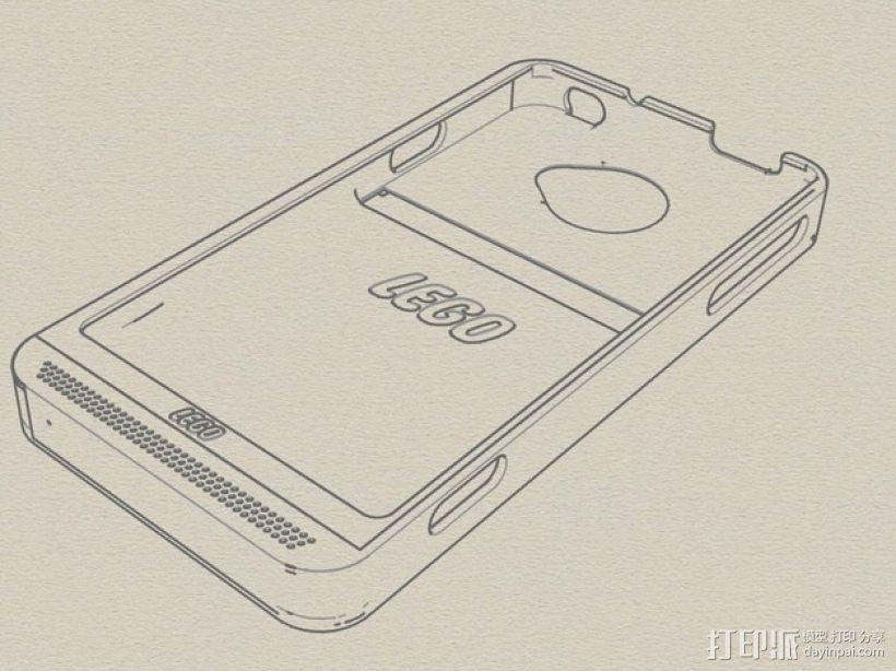 HTC EVO 乐高质地手机壳 3D模型  图3