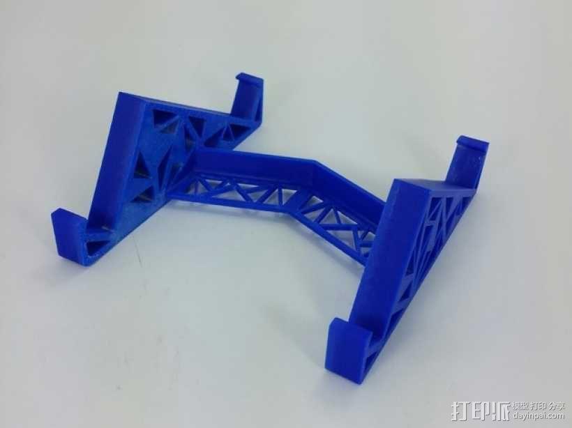 三角形平板站架 3D模型  图1