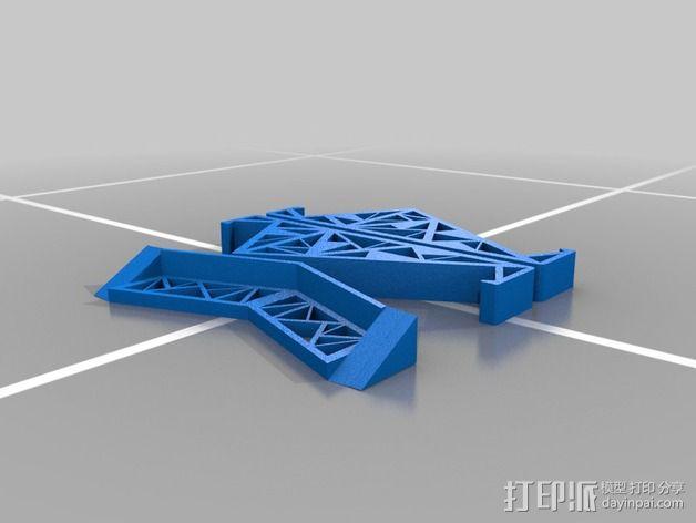 三角形平板站架 3D模型  图2