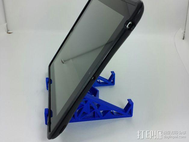三角形平板站架 3D模型  图4