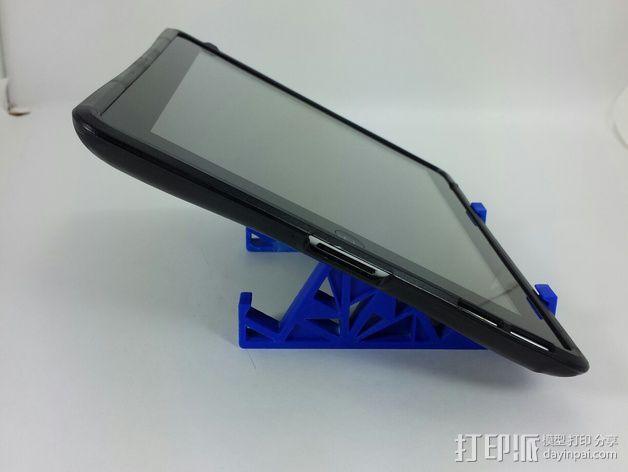 三角形平板站架 3D模型  图3