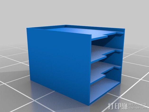 硬件放置盒 3D模型  图1