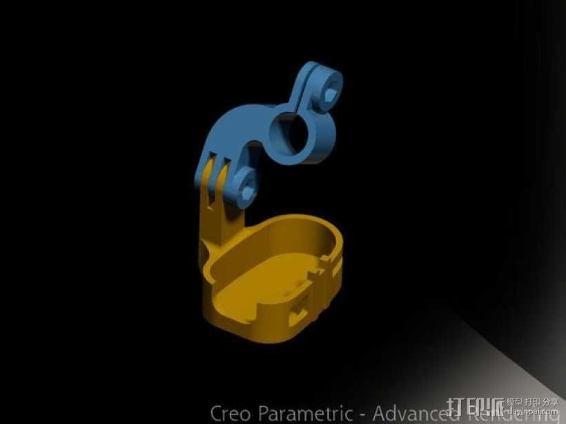 808 Keychain 相机适配器 3D模型  图1